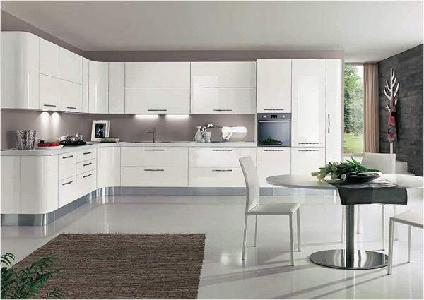 white kitchen cabinets01, κουζίνα με λευκά λακαριστά νουλάπια