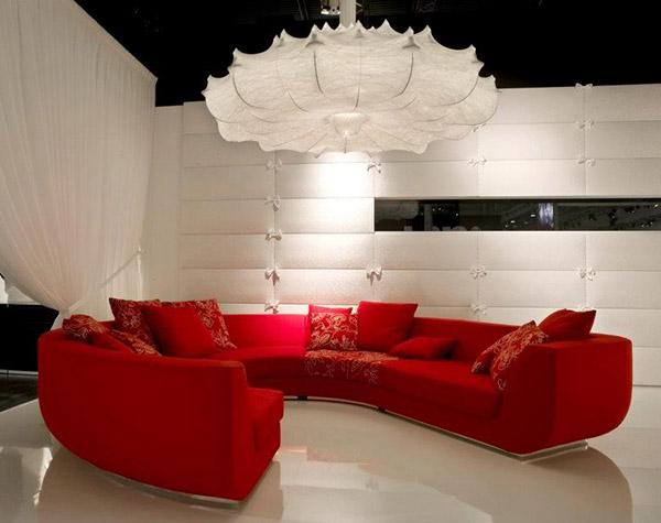 red sofa living room design interior idea marcel wanders 1
