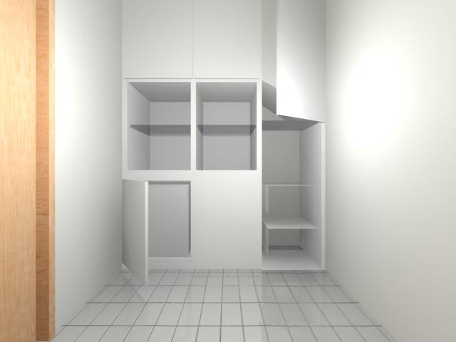 Ντουλάπια κάτω από την σκάλα, ντουλάπα