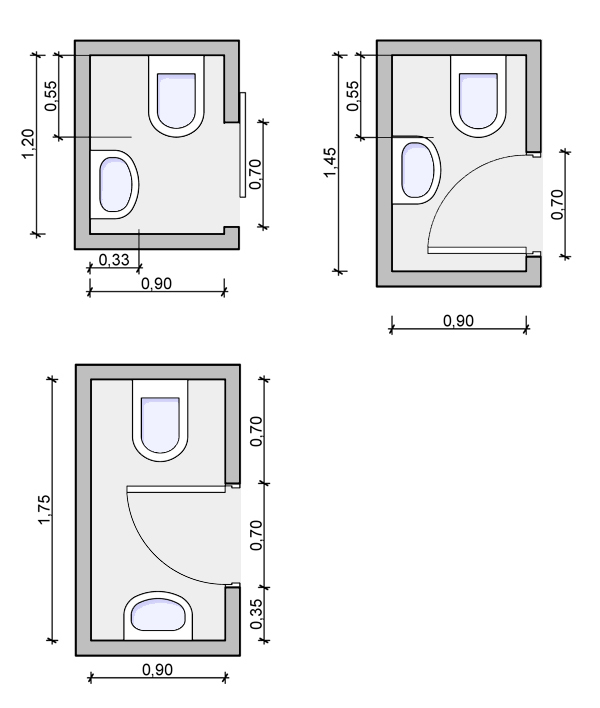 Baño Discapacitados Rne:Small Powder Room Floor Plans Layouts