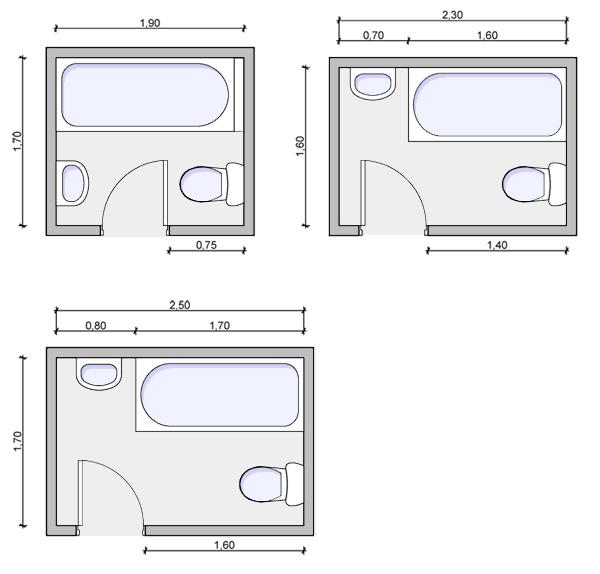 Wc Standard width of bathtub