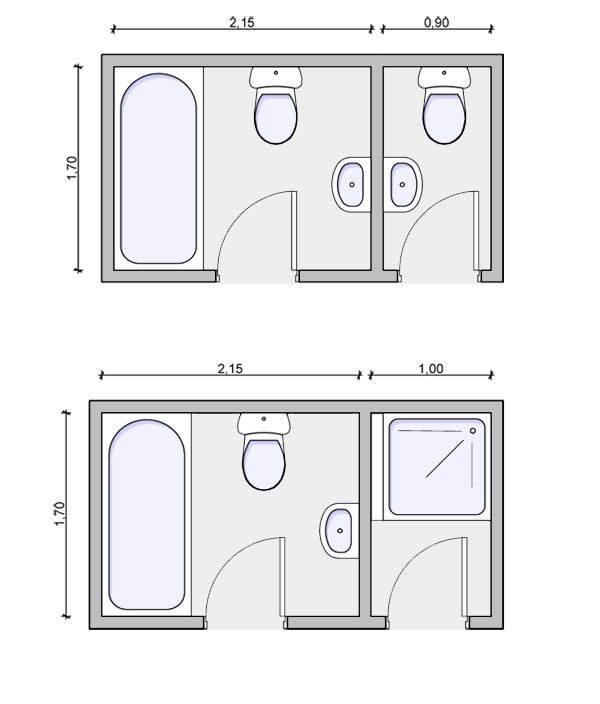 Wc for Bathroom designs dimensions