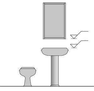 21 fantastic bathroom hardware heights for Bathroom accessories height