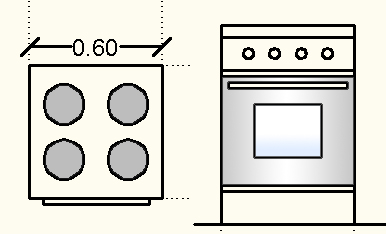 kitchen appliances dimension