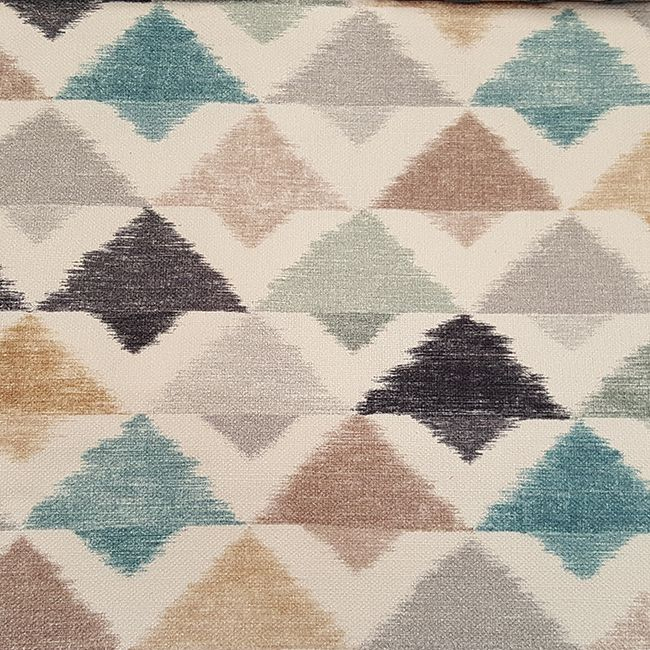Textile, ikat, triangles